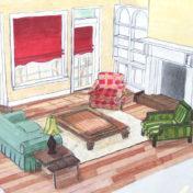 Skica dnevne sobe